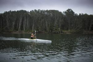 Sam Bloom paddling