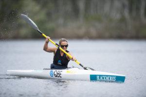 Sam Bloom kayaking